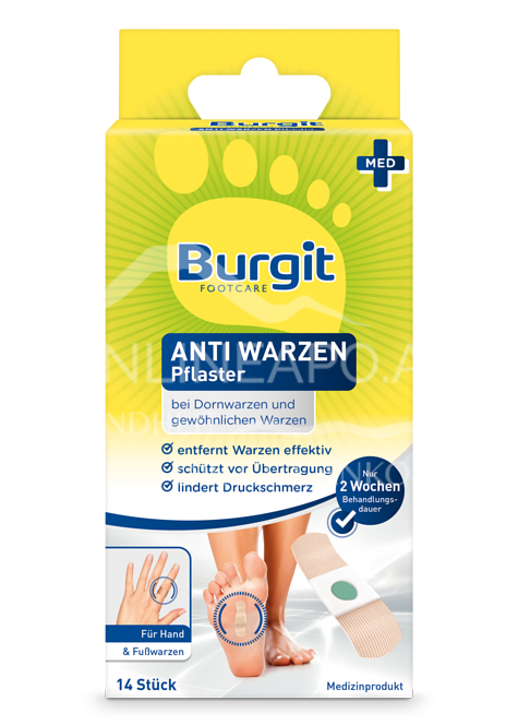 Burgit Footcare Anti Warzen Pflaster