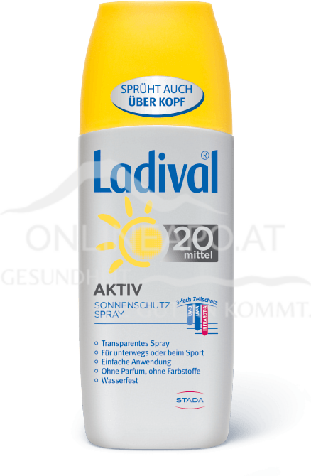 LADIVAL® Aktiv Transparentes Sonnenschutz Spray LSF 20
