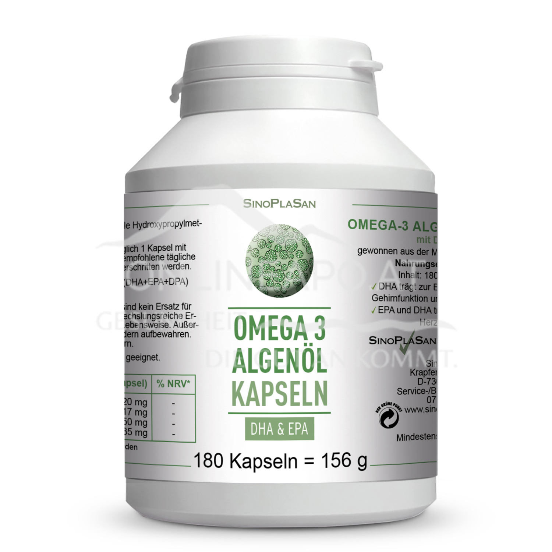 Sinoplasan Omega 3 Algenöl DHA-EPA Kapseln