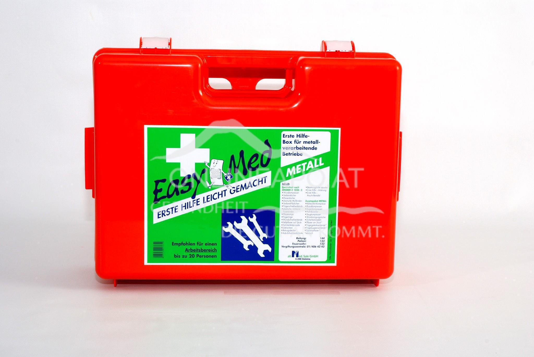 EasyMedErste Hilfe Kasten Metall Type 2