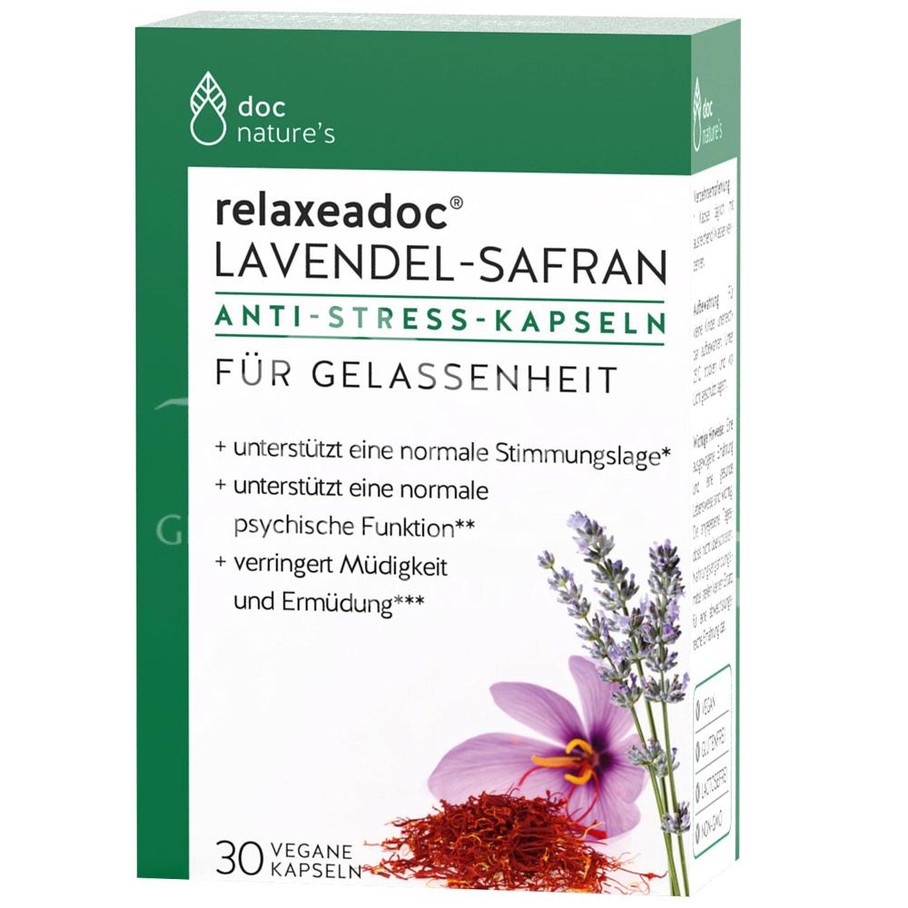 doc nature's Lavendel-Safran Anti-Stress Kapseln