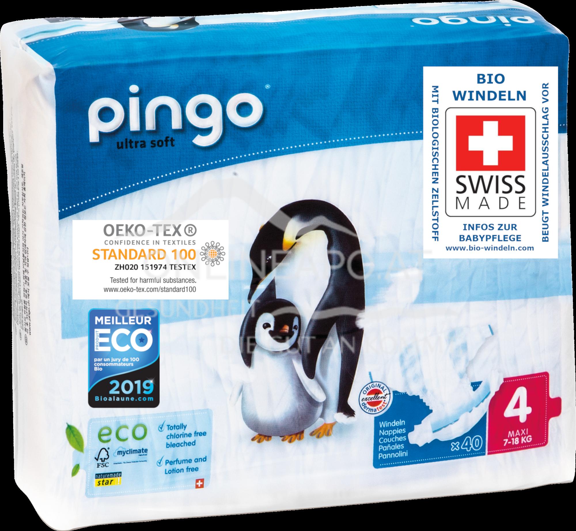 Bio Windeln Maxi 7-18kg Pinguin – Pingo Swiss