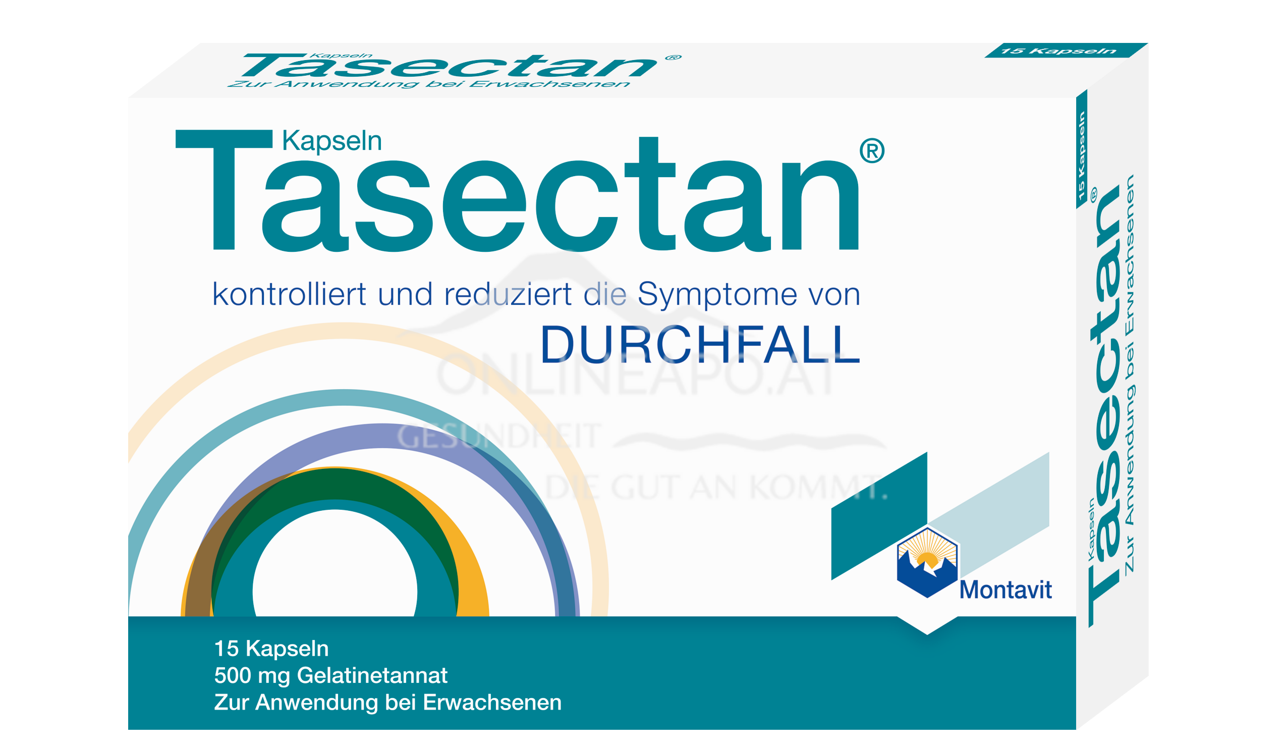Tasectan Kapseln 500 mg Blisterpackung