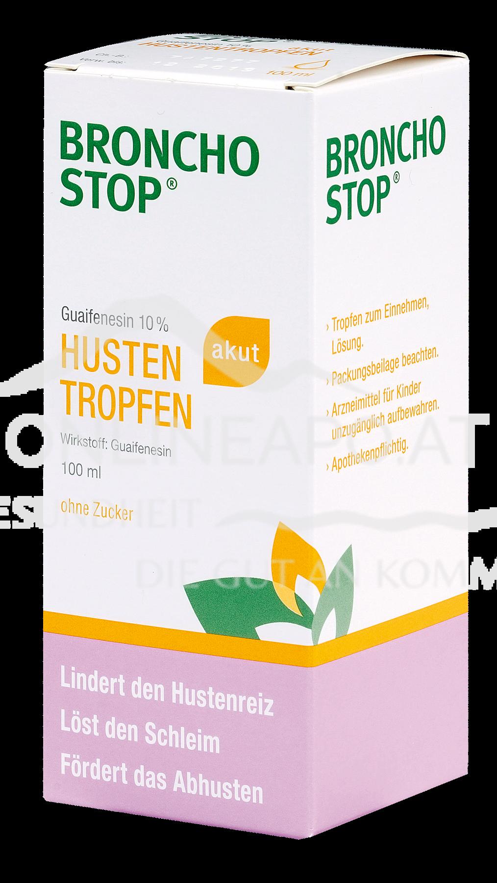 BRONCHOSTOP® Guaifenesin 10% akut Hustentropfen