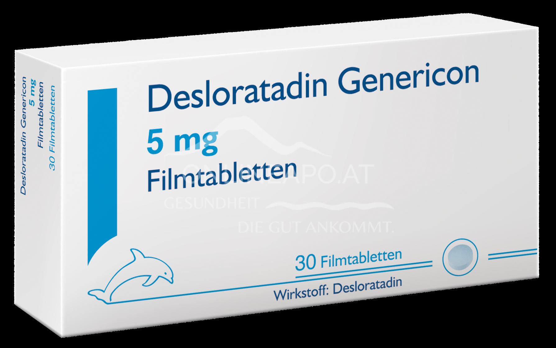 Desloratadin Genericon Filmtabletten 5 mg