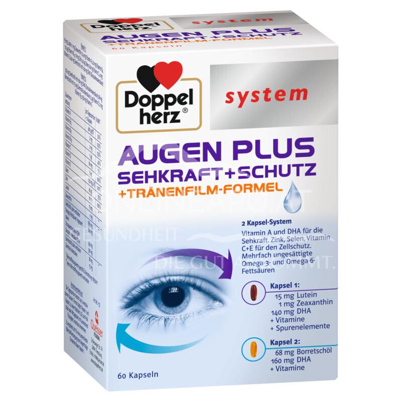 Doppelherz system AUGEN PLUS SEHKRAFT + SCHUTZ + Tränenfilm-Formel Kapseln