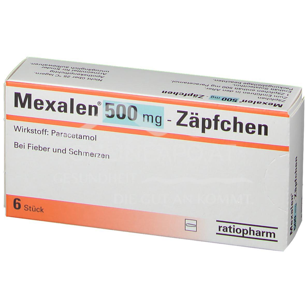Mexalen® 500mg Zäpfchen