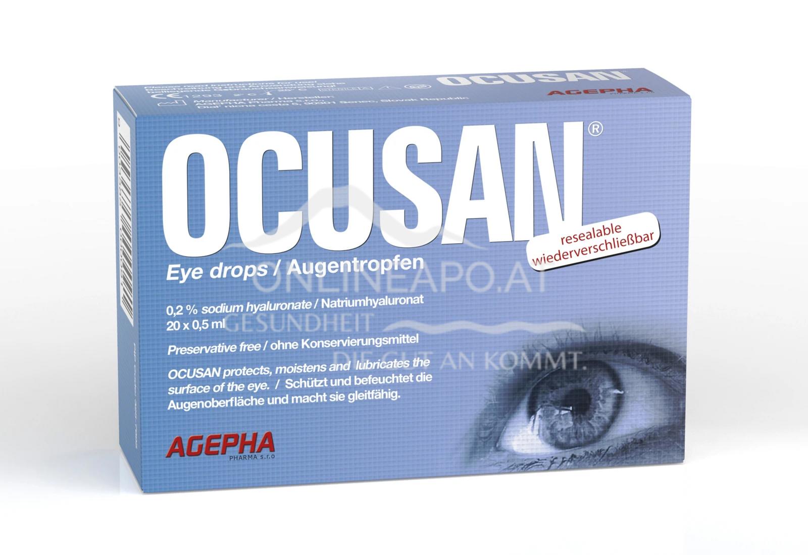 Ocusan® Einmal-Augentropfen 20x0,5ml