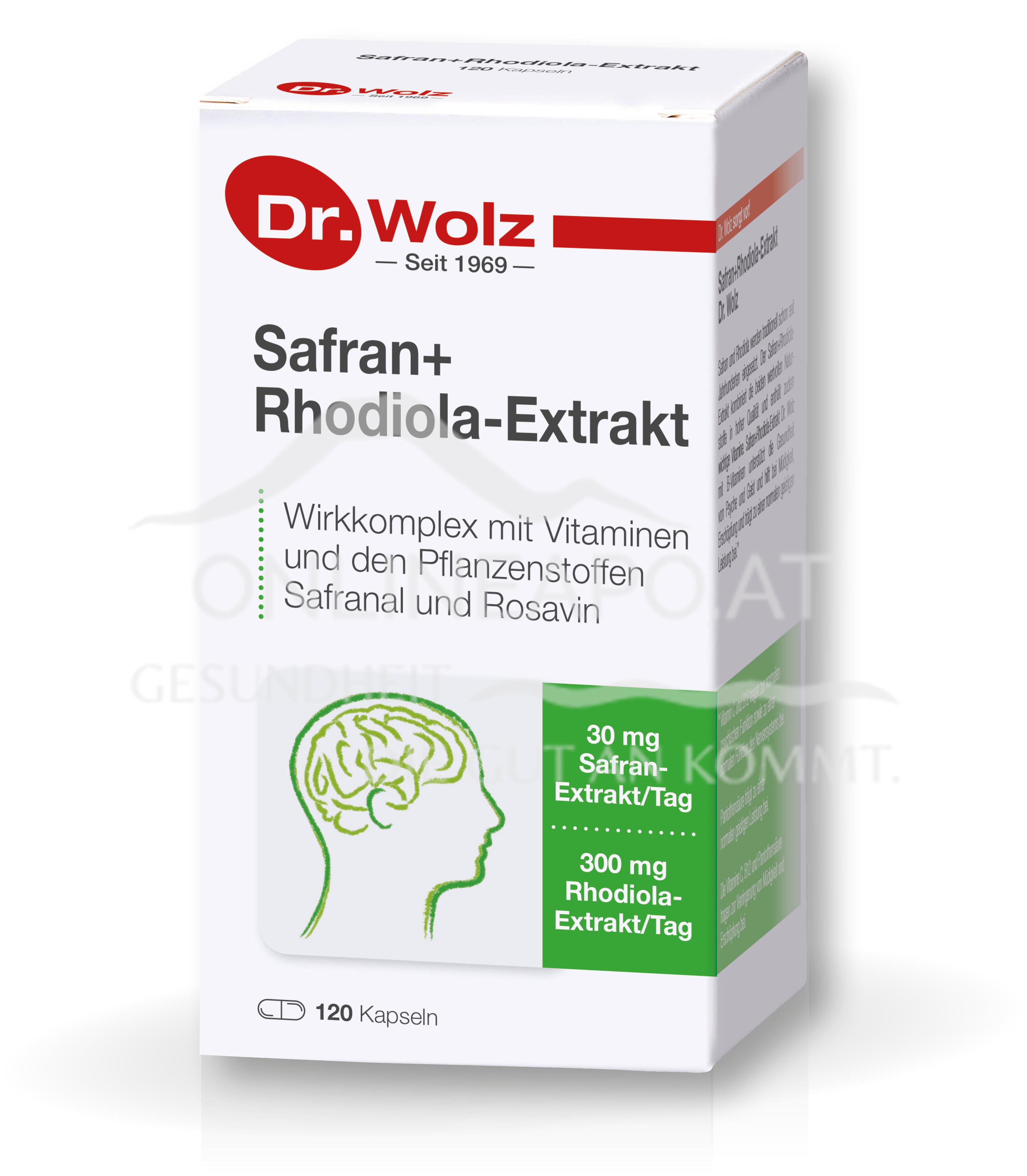 Dr. Wolz Safran+Rhodiola-Extrakt Kapseln