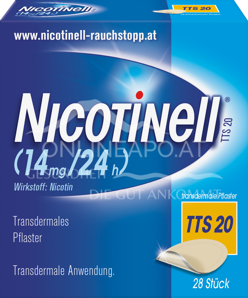 Nicotinell® TTS 20 (14 mg/24 h) transdermale Pflaster