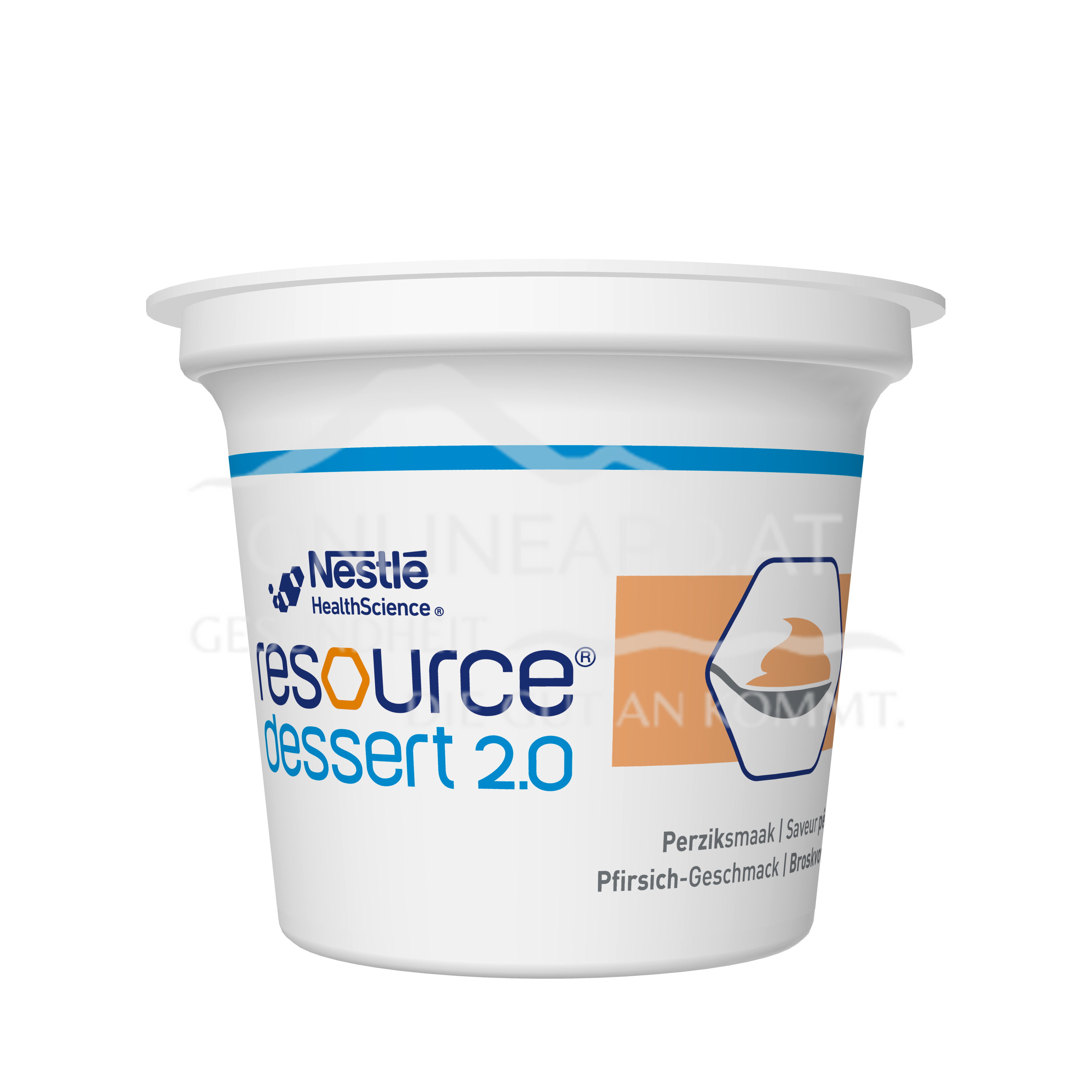 Resource® Dessert 2.0 Pfirsich 4x125g
