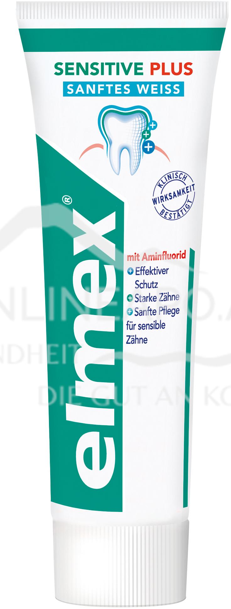elmex® SENSITIVE PLUS sanftes Weiß Zahnpasta