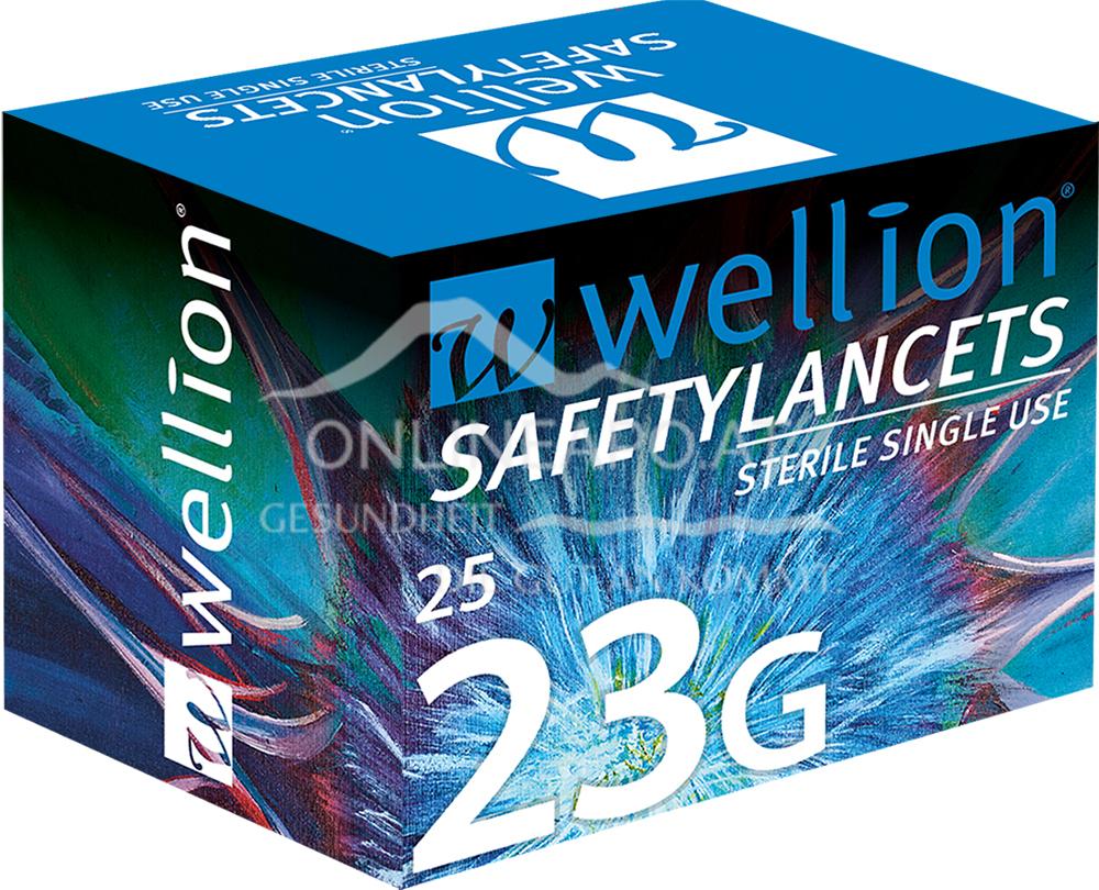 Wellion® SafetyLancets - 23G Einmalsicherheitslanzetten