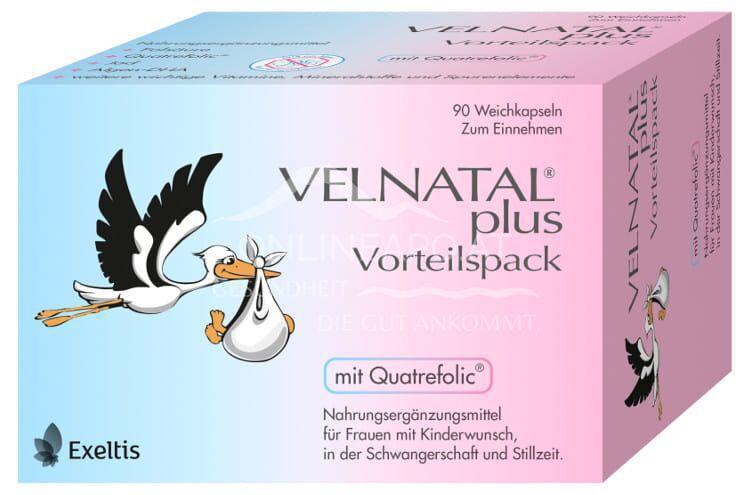 VELNATAL® plus mit Quatrefolic® Weichkapseln