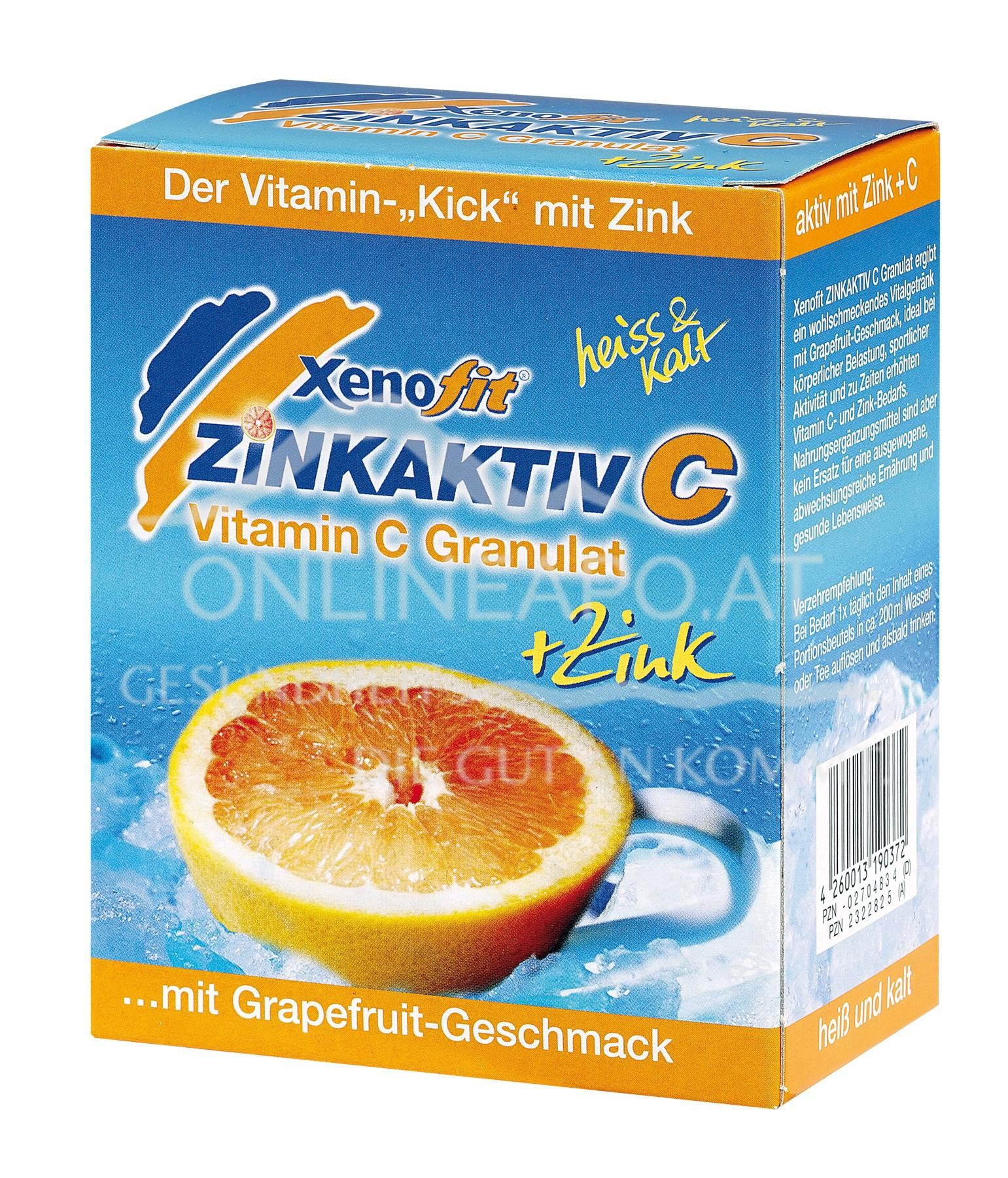 XENOFIT® Zinkaktiv C - Grapefruit Beutel