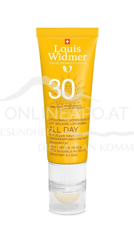 Louis Widmer All Day 30 mit Lippenpflege Stift 50 leicht parfümiert