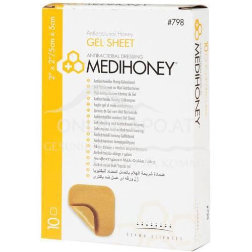 Medihoney® Antibakterieller Honig-Gelverband 5x5cm