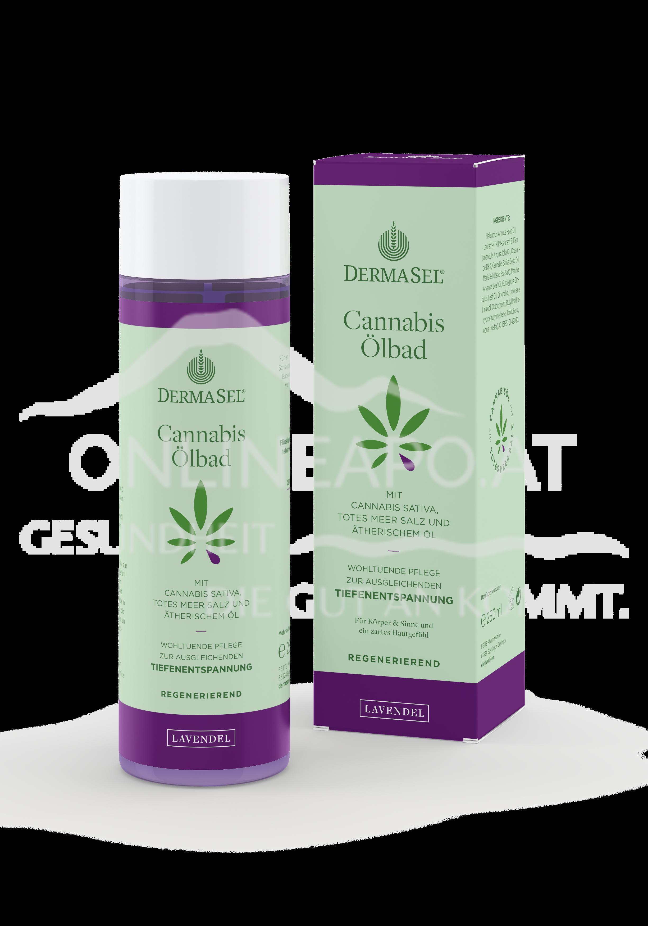 DermaSel® Cannabis Ölbad Lavendel