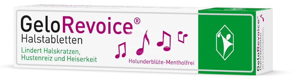 GeloRevoice® Halstabletten Holunderblüte-Mentholfrei