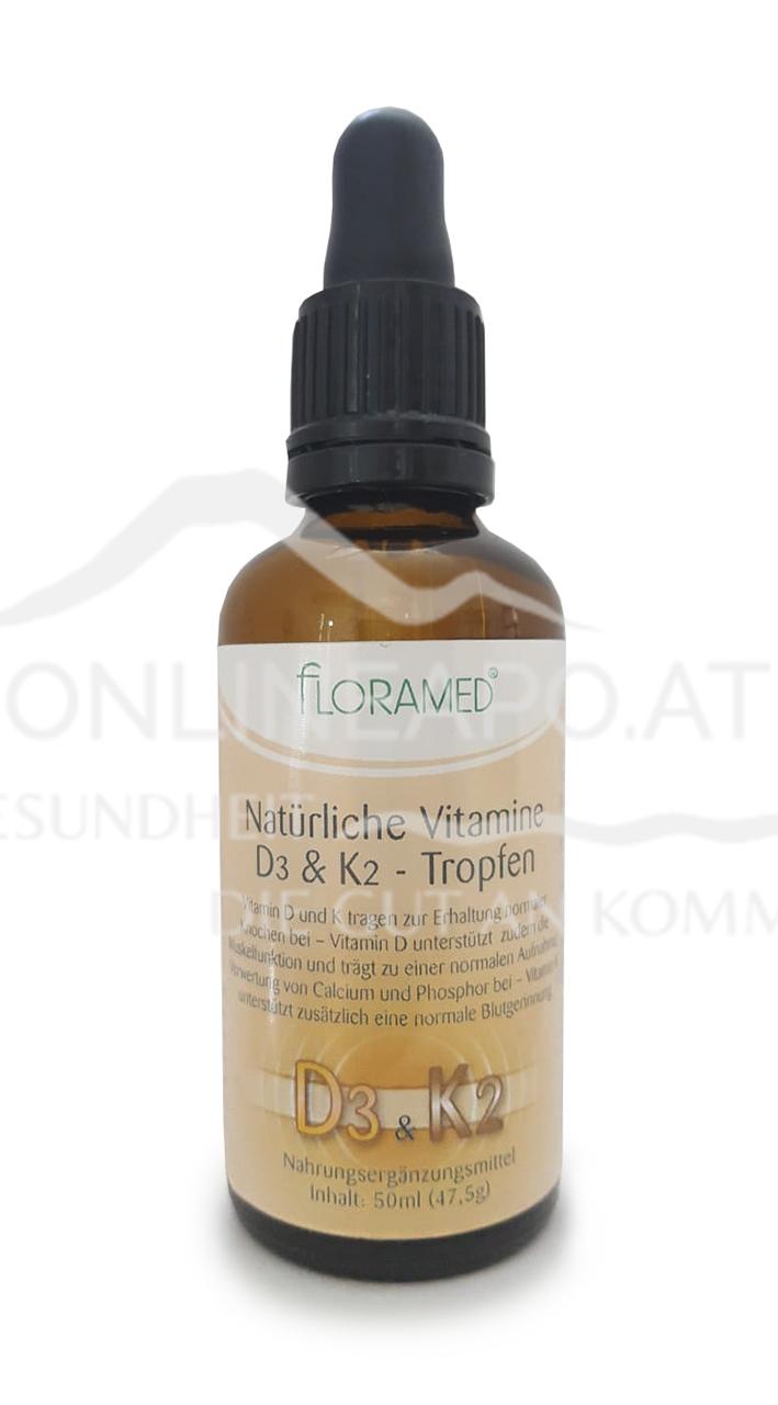 Floramed Vitamin D3 & K2 Tropfen natürlich