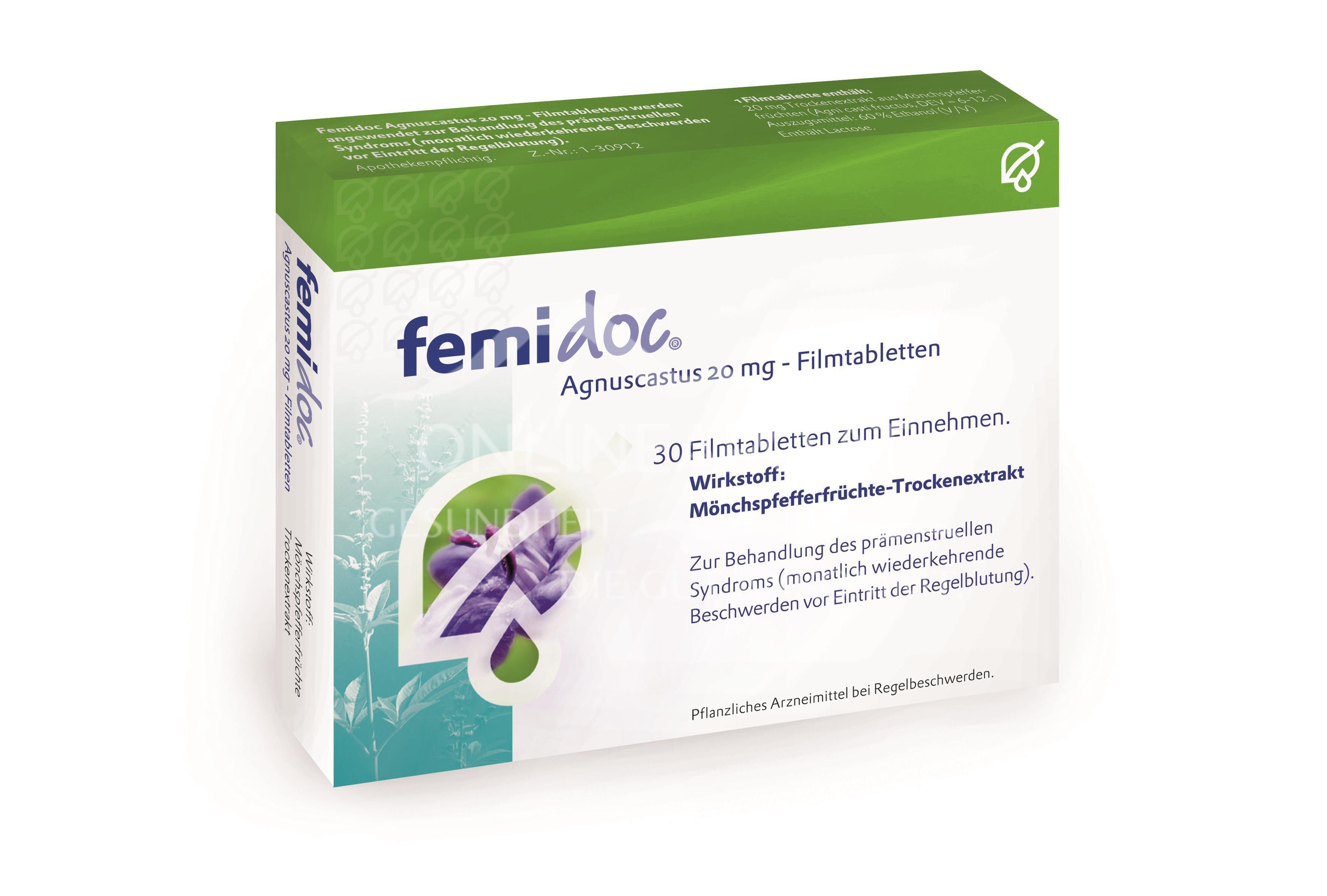 femidoc Agnuscastus 20mg – Filmtabletten