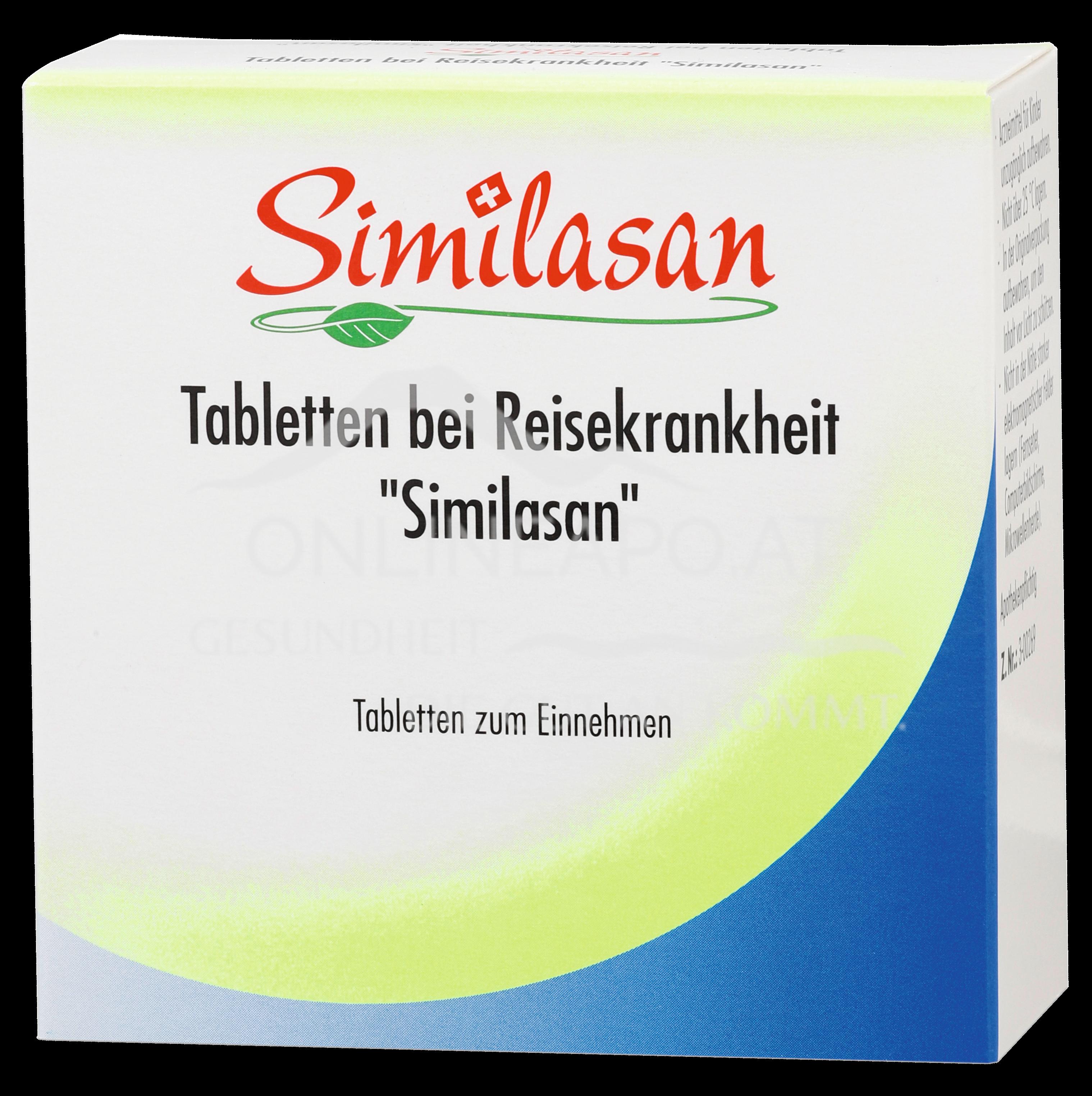 Similasan Tabletten bei Reisekrankheit