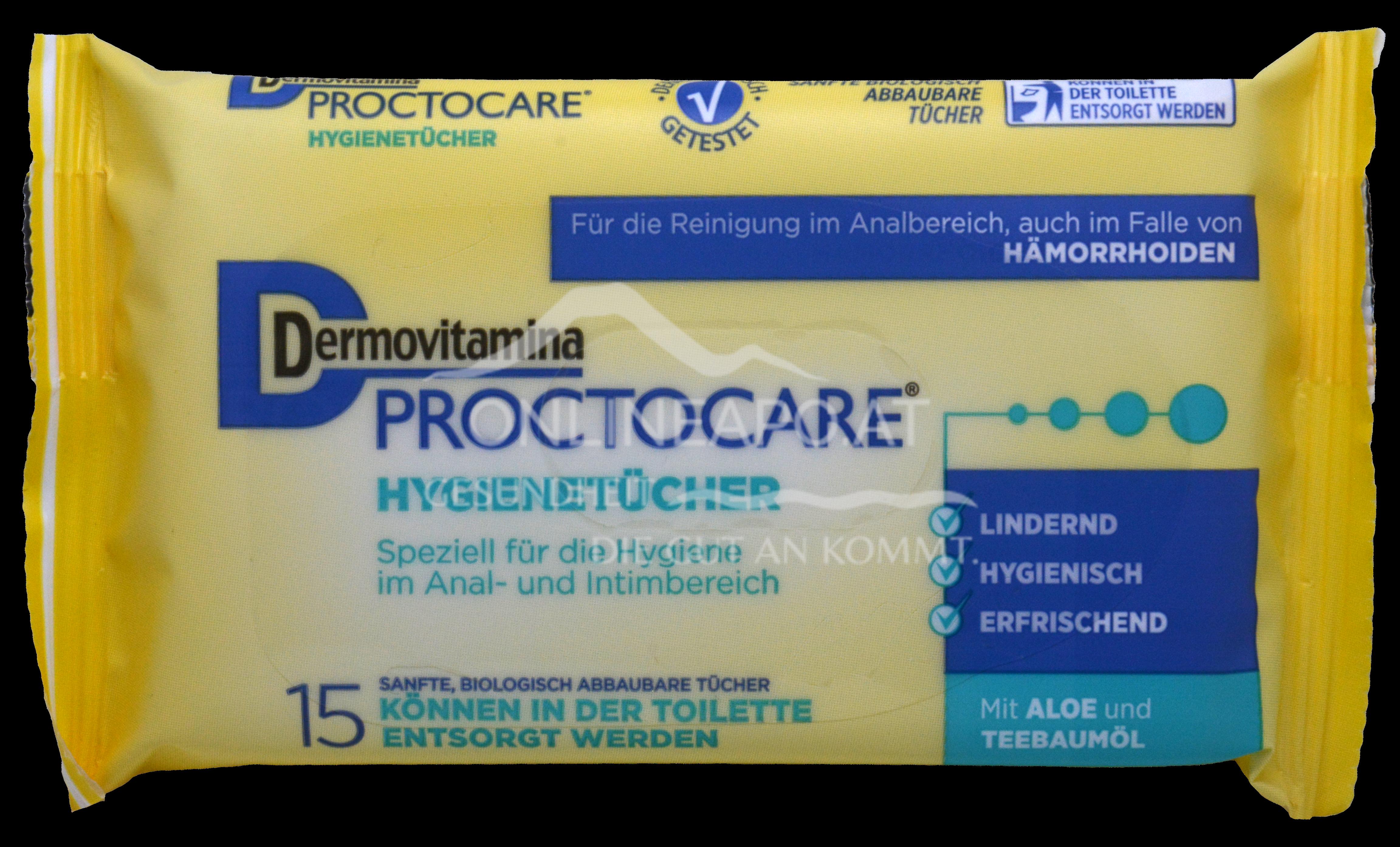 Dermovitamina Proctocare® Hygienetücher