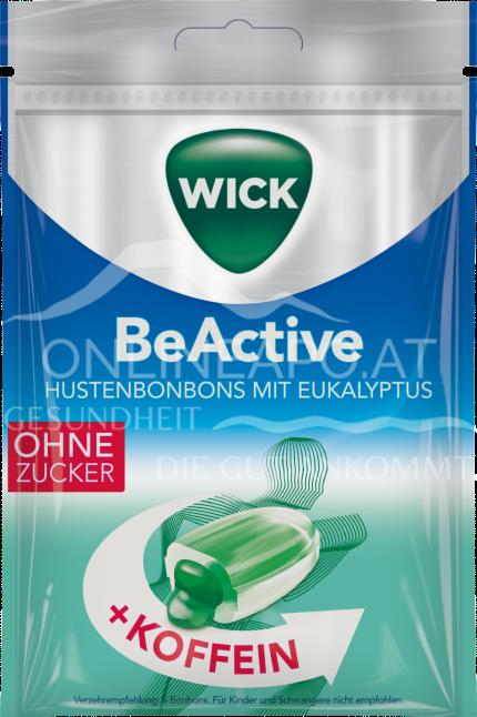 Wick BeActive Hustenbonbons Eukalyptus mit Koffein