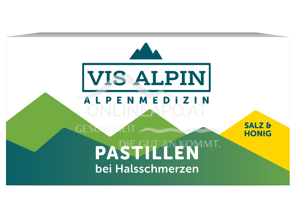 VIS ALPIN Alpensalzpastillen Honig