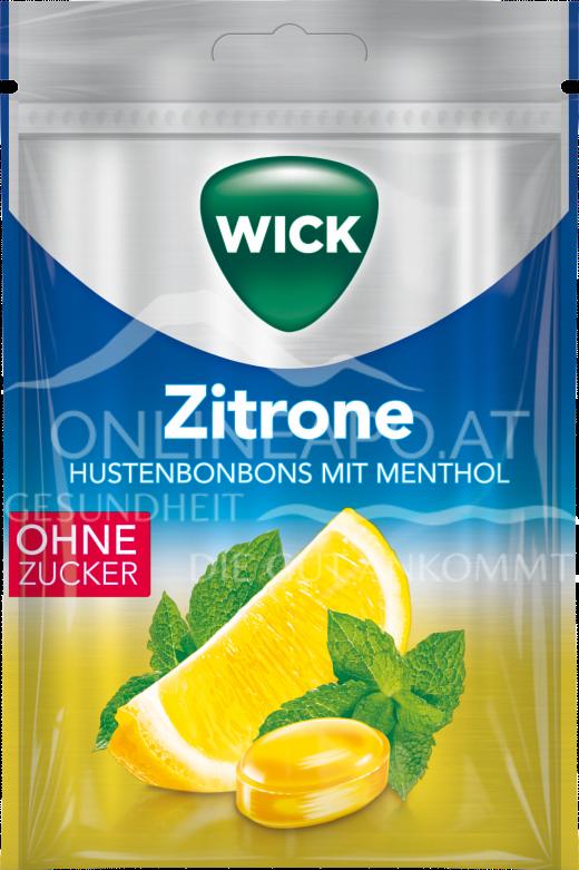 Wick Zitrone Hustenbonbons mit Menthol