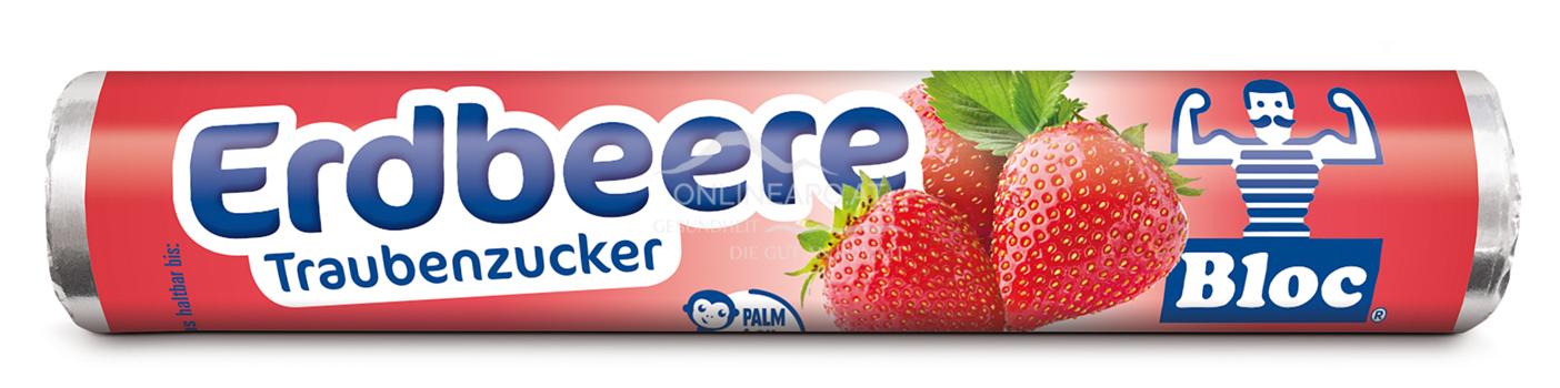 Bloc® Traubenzucker Rolle Erdbeere