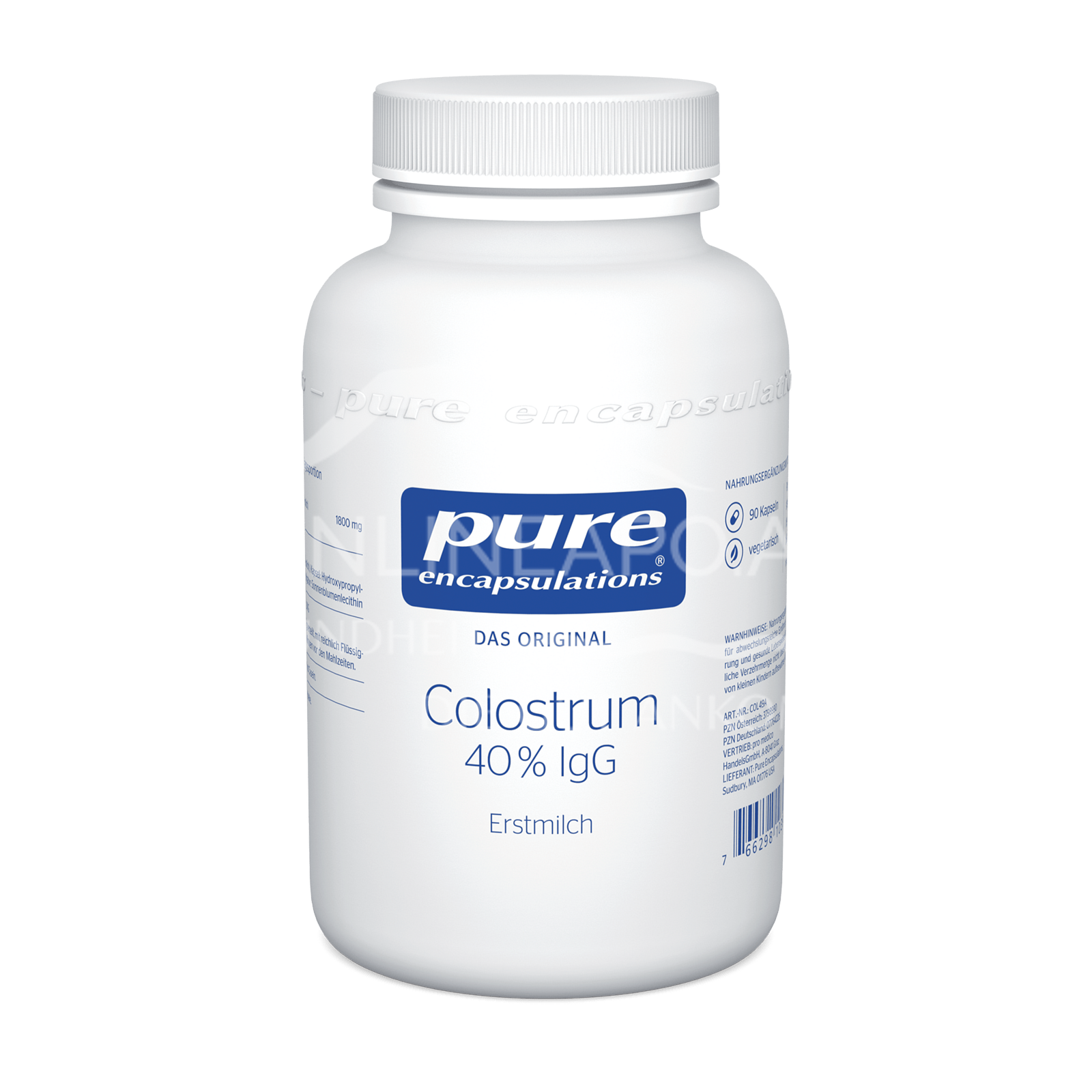pure encapsulations® Colostrum 40 % IgG