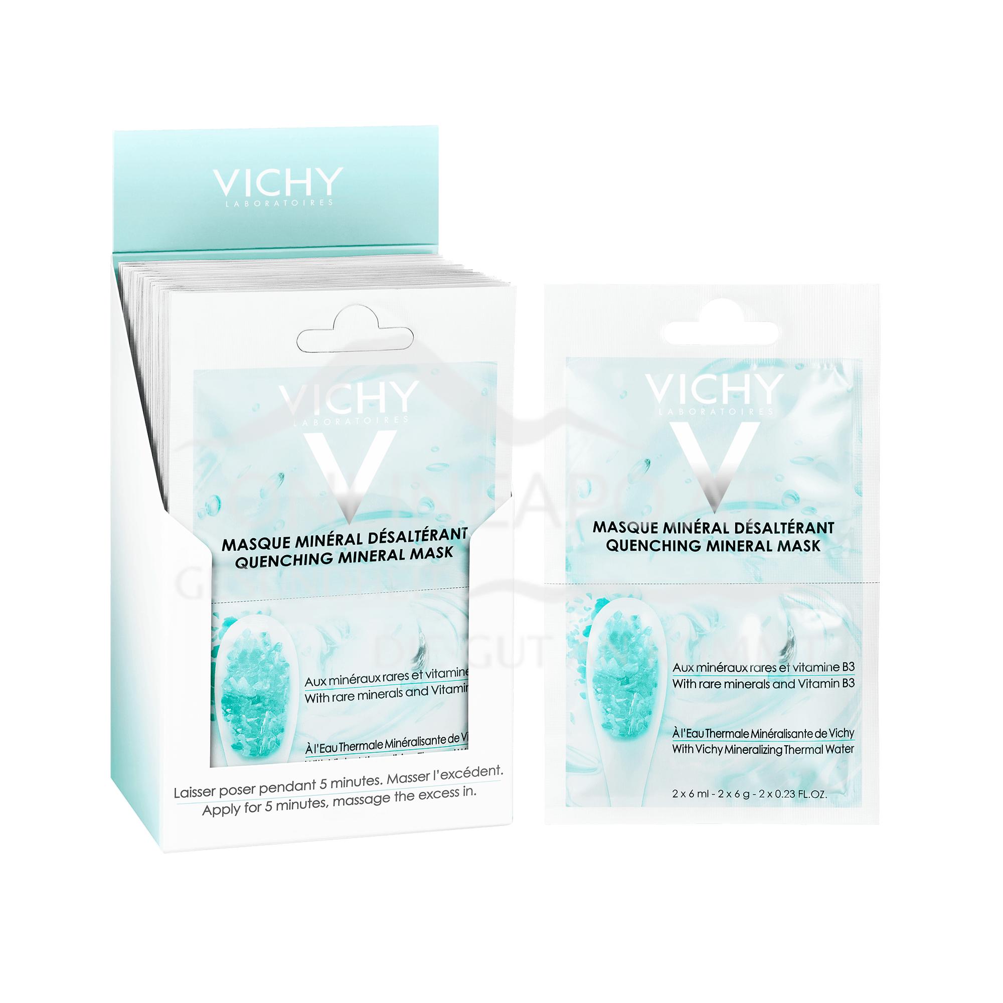 VICHY Pureté Thermale Feuchtigkeitspendende Maske Duo-Sachet 2x6ml