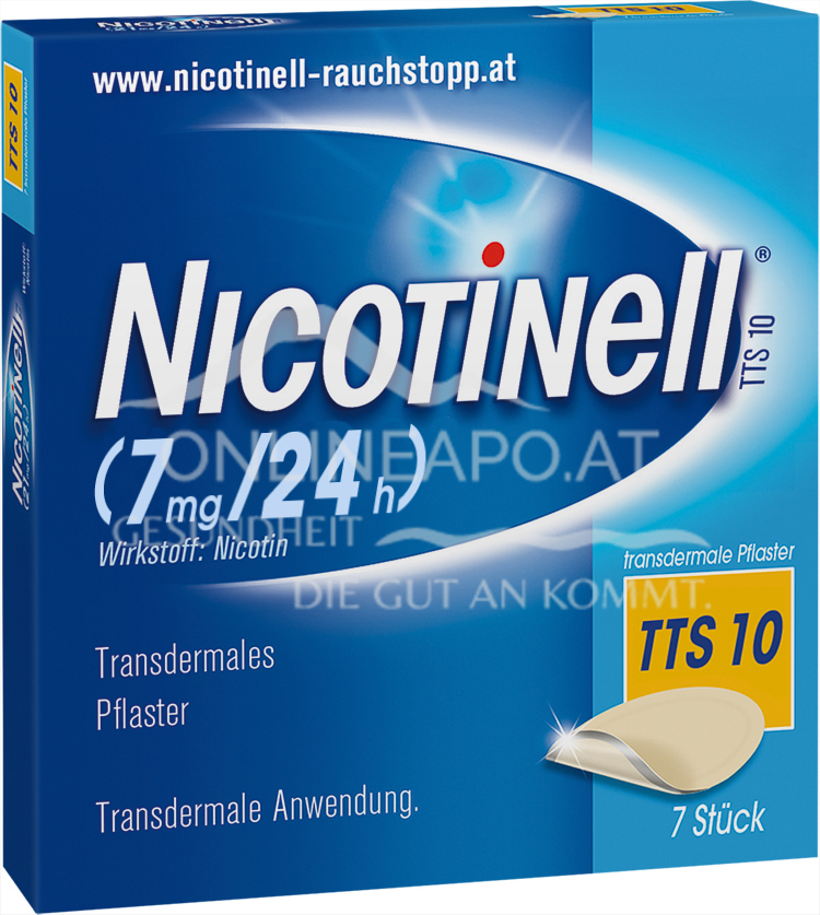 Nicotinell® TTS 10 (7 mg/24 h) transdermale Pflaster
