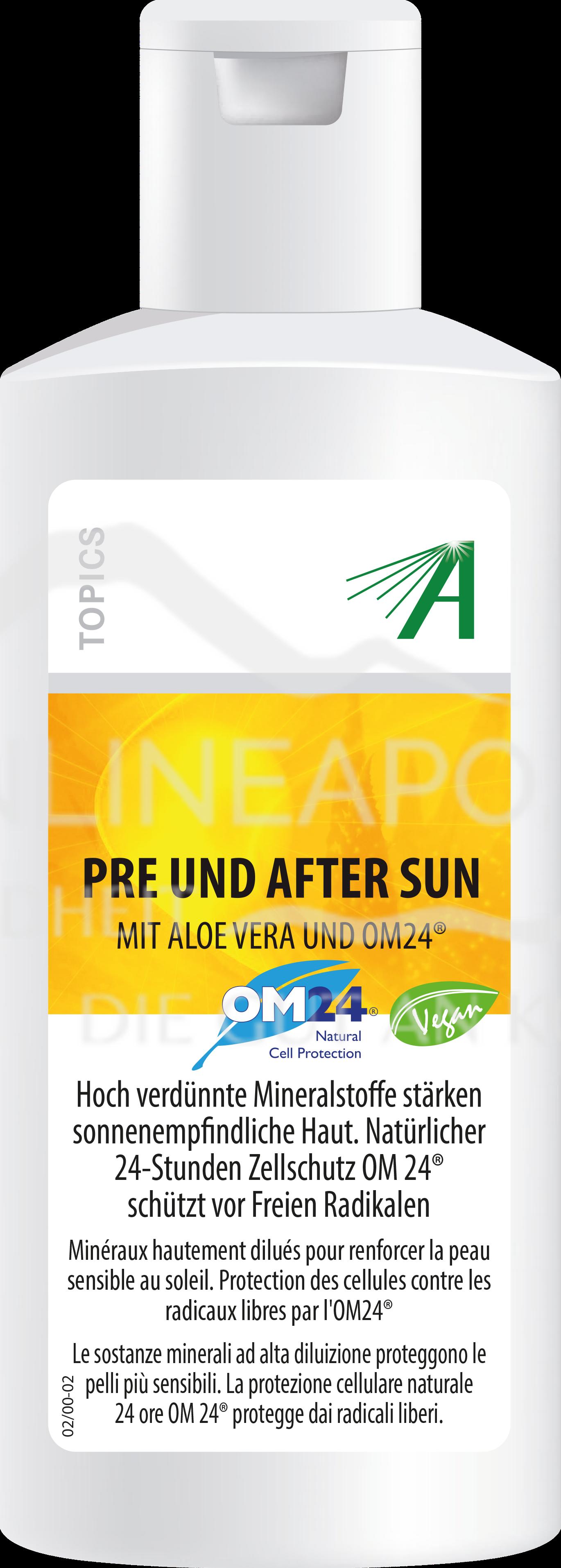 Adler Pre und After Sun mit Aloe Vera und OM24®
