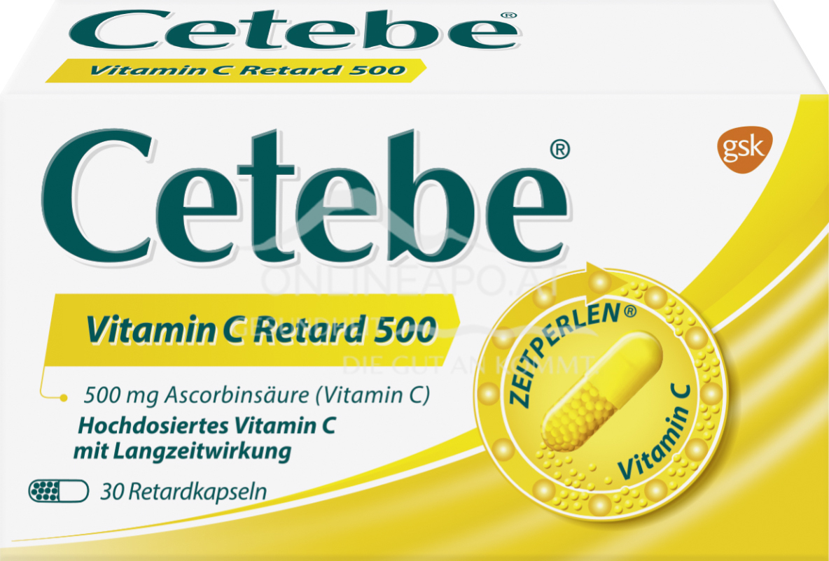 Cetebe® Vitamin C Retard-Kapseln 500 mg