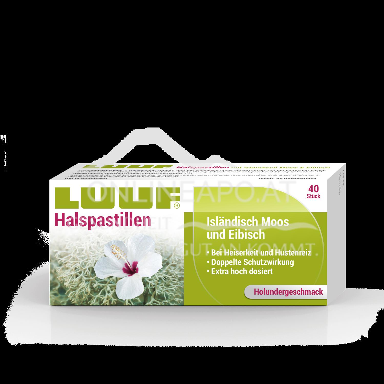 LUUF® Halspastillen mit Isländisch Moos und Eibisch