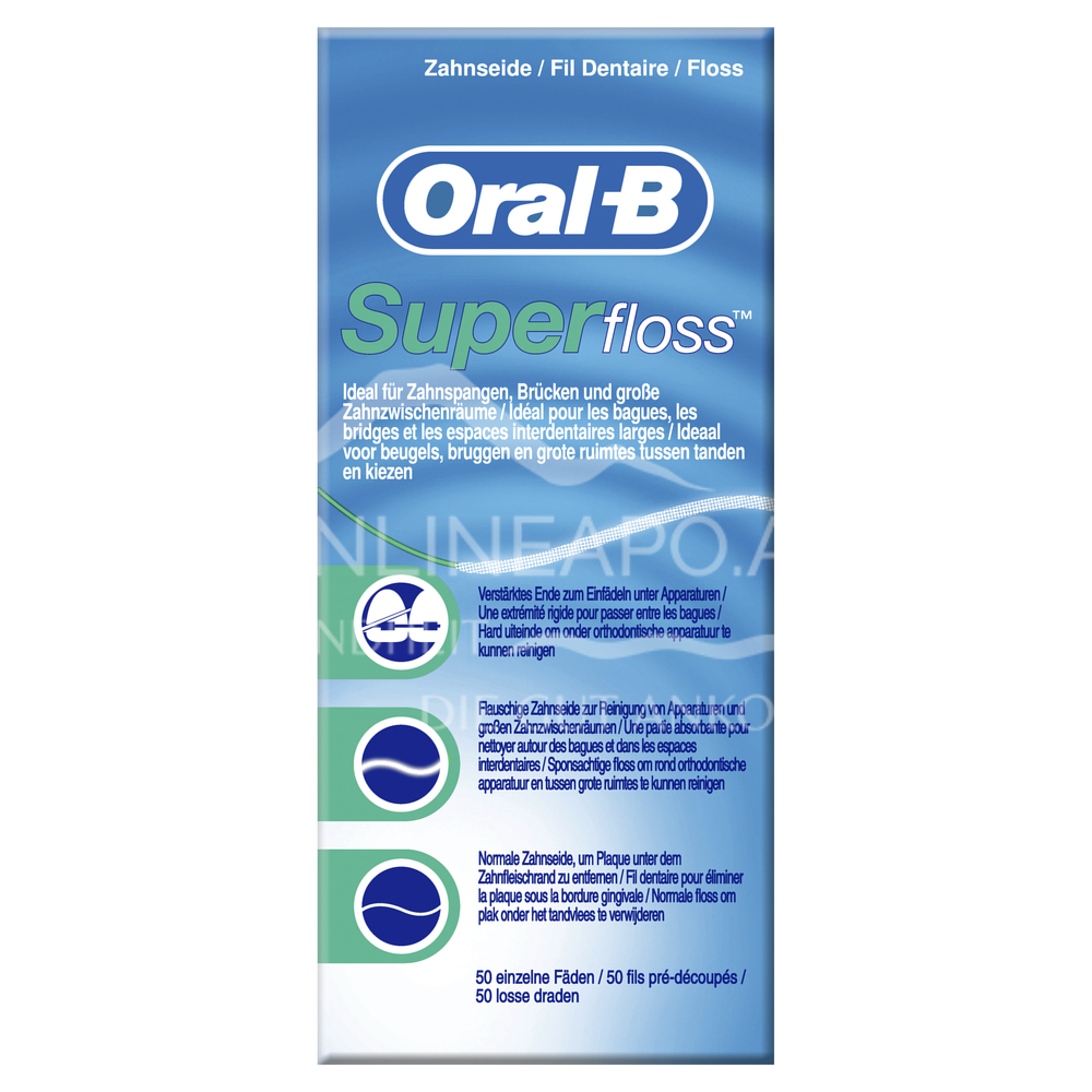 Oral-B SuperFloss 50 Fäden