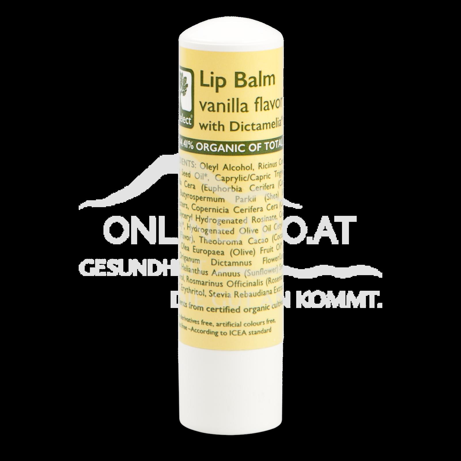 Bioselect Lip Balm vanilla flavor