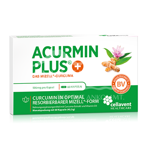 ACURMIN® PLUS Weichkapseln Mizell-Curcuma