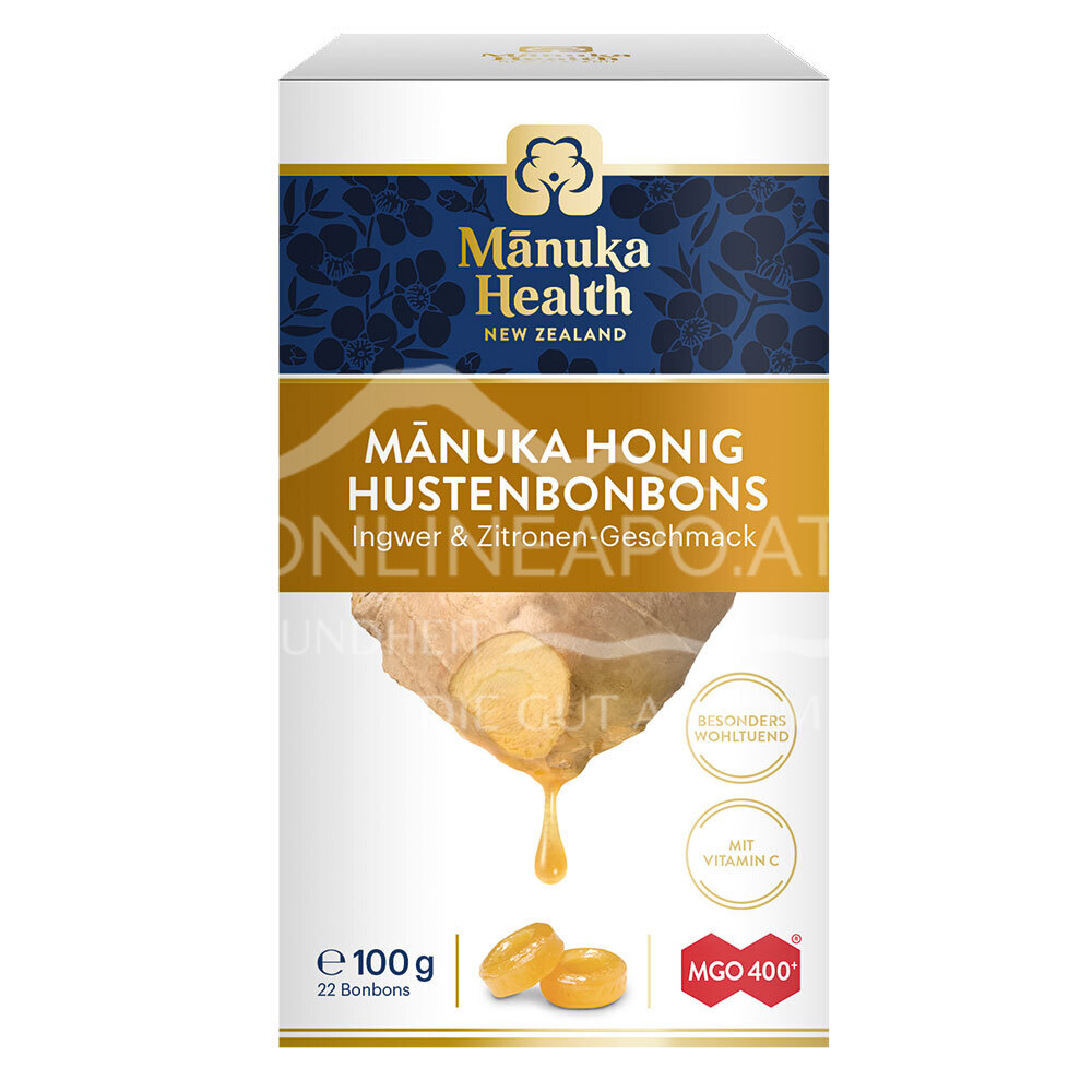 Mānuka Health Hustenbonbons Ingwer-Zitrone MGO 400+