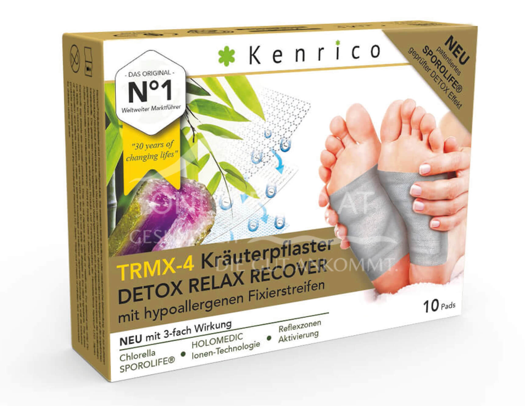 Kenrico TRMX-4 Kräuterpflaster DETOX RELAX RECOVER