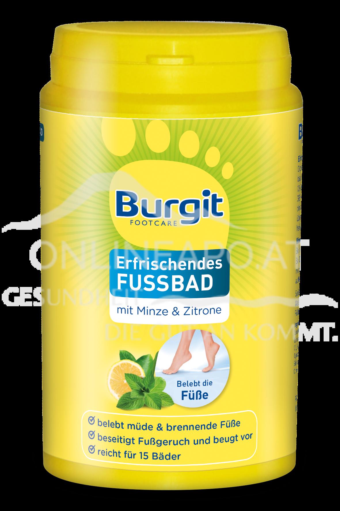 Burgit Erfrischendes Fußbad mit Minze & Zitrone