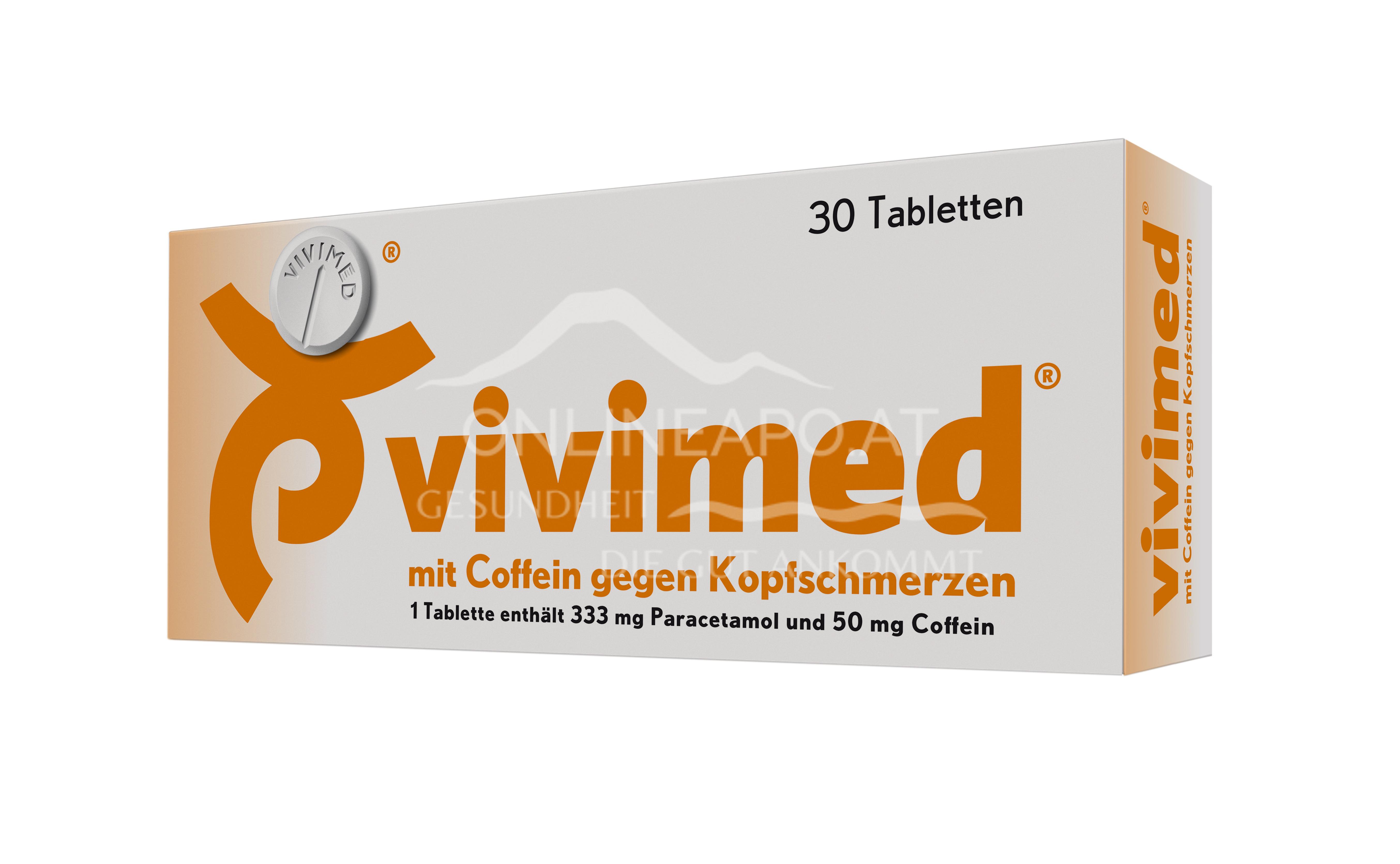 vivimed Tabletten mit Coffein gegen Kopfschmerzen
