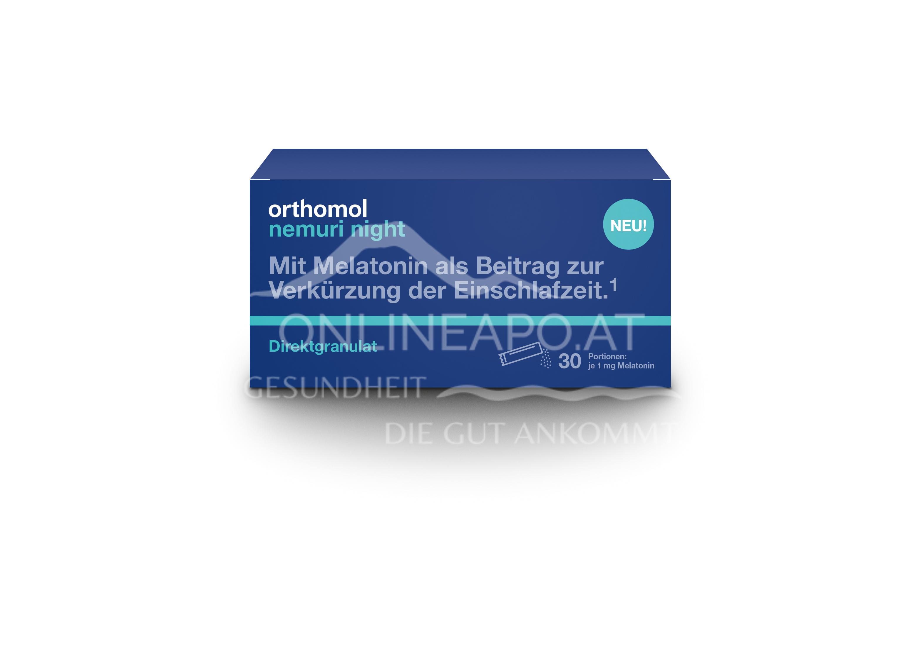 Orthomol Nemuri night Direktgranulat