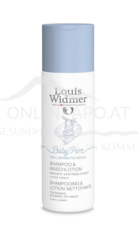 Louis Widmer BabyPure Shampoo und Waschlotion ohne Parfüm