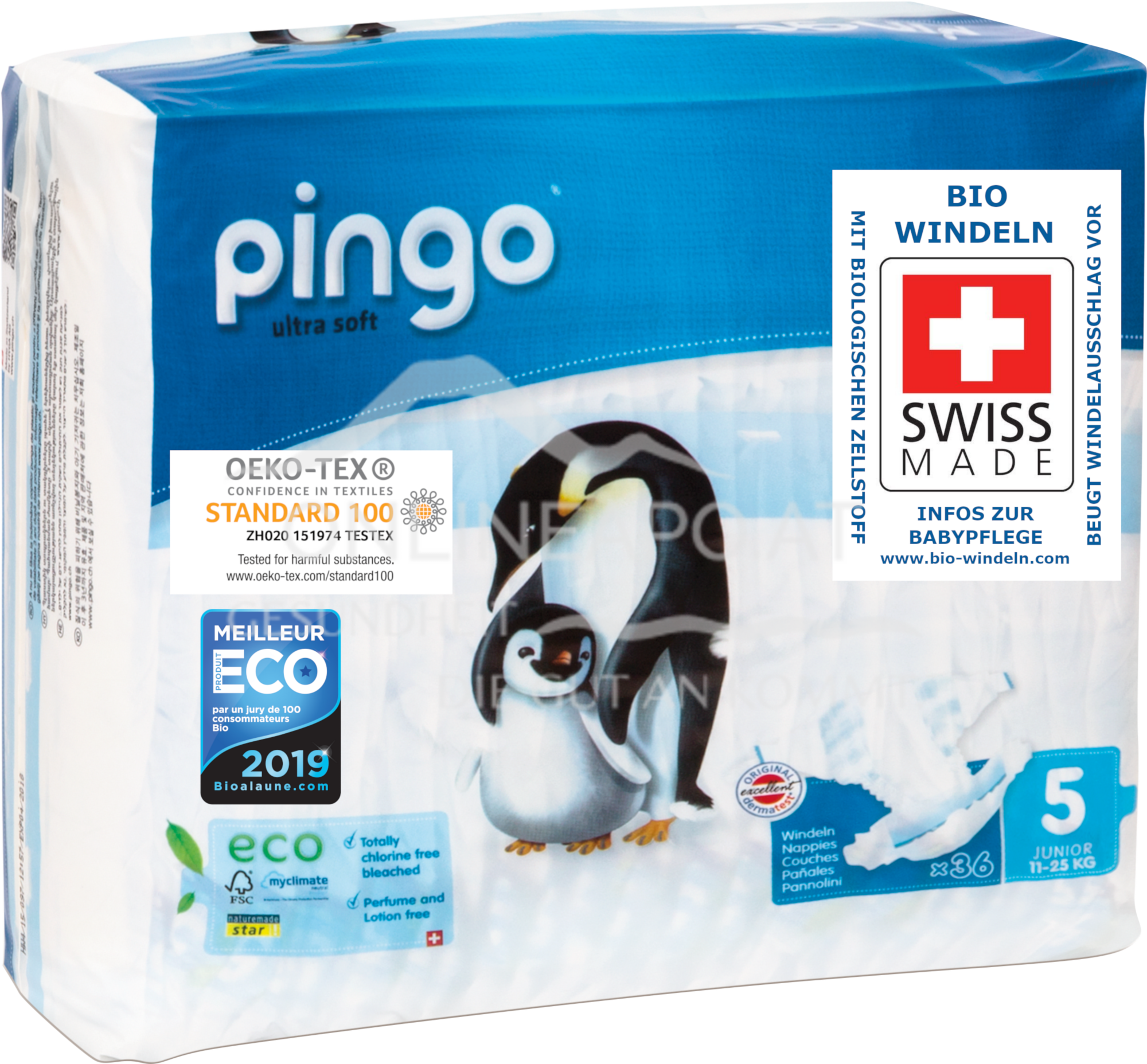 Bio Windeln Junior 12-25kg Pinguin – Pingo Swiss