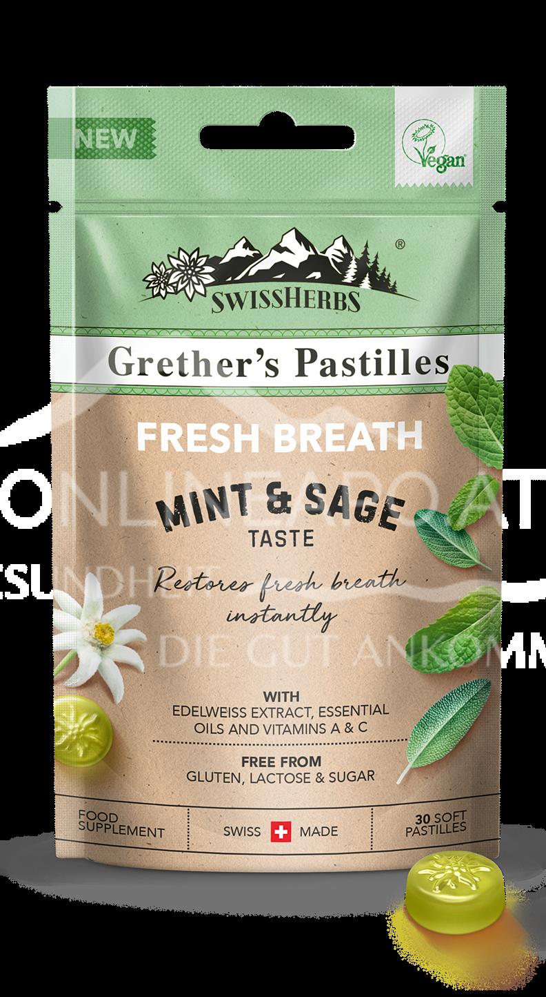 Grether's Swiss Herbs Pastilles Fresh Breath zuckerfrei