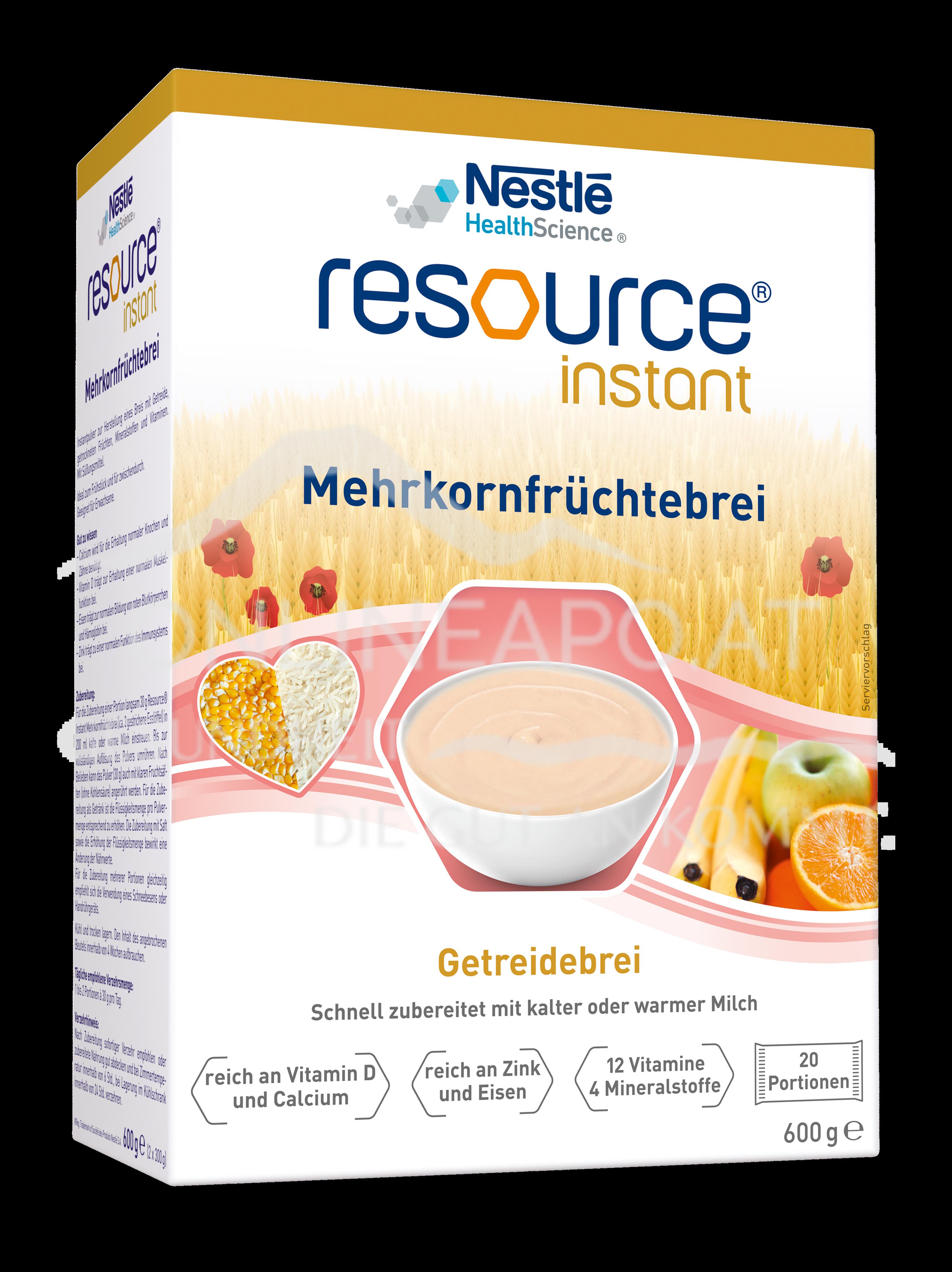 Resource® Instant Mehrkornfrüchtebrei