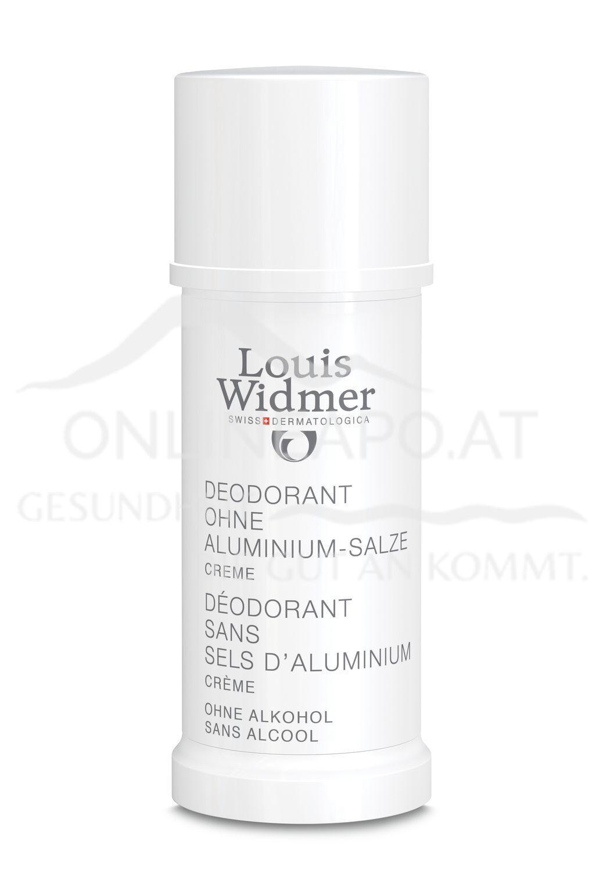 Louis Widmer Deodorant ohne Aluminium-Salze Creme leicht parfümiert